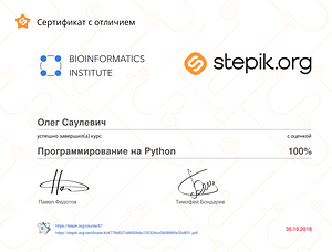 Сертификат программиста
