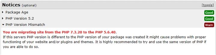 host duplicator php notice